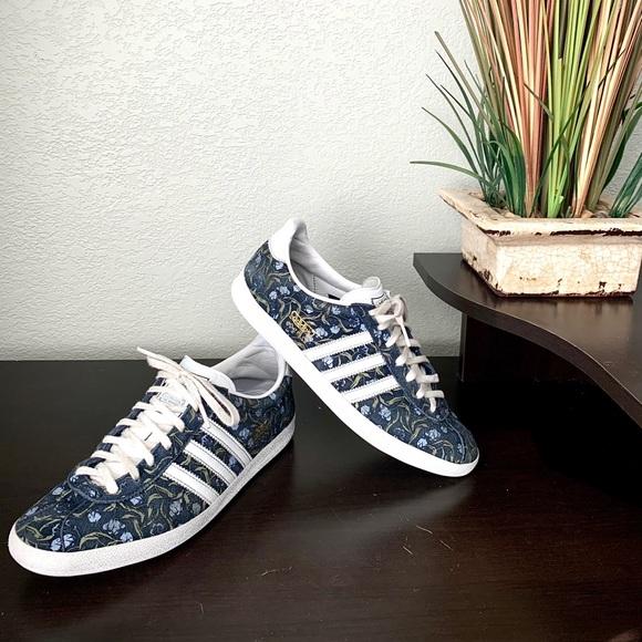 Adidas Gazelle Floral Print Shoes - Womens 8.5